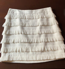 THE LIMITED CREAM FRINGE SKIRT Size 4