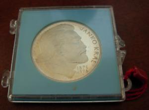 Czechoslovakia 1976 Silver 100 Korun Janko Kral Original Mint Sealed BU