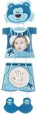 Bilderrahmen Bieco Baby Gipsabdruck Bär Blau Abdruckset Fotorahmen Abdruck Neu