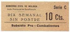Sello Local Guerra Civil Malaga -Cat. Ticket.  ORD:1194