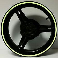 KAWASAKI NINJA GREEN REFLECTIVE MOTORCYCLE WHEEL STRIPES RIM STICKERS TAPE DECAL