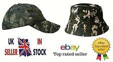 Diseño de camuflaje Adulto Ajustable Gorra De Béisbol Gorra De Caza Pesca Sombrero del cubo
