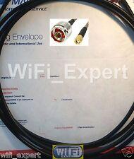 15' RFC400 RP-SMA Male N Male WiFi Cable Jumper Biquad Yagi Cantenna USB WiFi