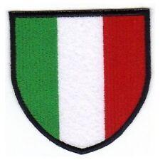 [Patch] SCUDETTO ITALIA bordo nero cm 8,5 x 8,5 toppa ricamata termoadesiva -390
