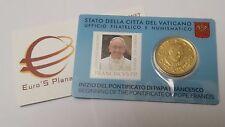 coin card N 3 50 euro cent VATICAN 2013 Vaticano Vatikan Pape François Francesco