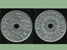 NORVEGE  5 kroner  1998