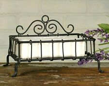 Rustic Early American Country Antique Hand Wrought WIre Soap DIsh Holder Stand B