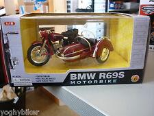 MODELLINO BMW R69S MOTORBIKE BORDEAUX SCALA 1:18 NUOVO IN SCATOLA