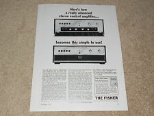 Fisher 1962 X-101-C Tube Preamp Ad, 1962, Article, Info, 1 page