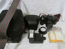 Rokinon 3000e 35mm Camera Bundle w/Leather Case, Carrying Case, Flash 2000, Kit