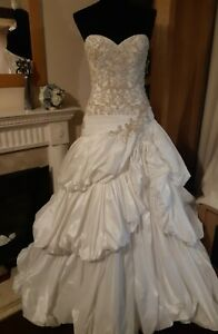 REDUCED Ivory & Gold / Silver Wedding Dress By Sottero & Midgley Size. 10 - 12