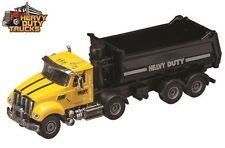 Heavy Duty Truck 1:50 Scale Diecast Yellow Dump Truck  7 1/2 inches long NEW