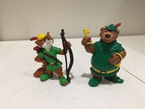 "Walt Disney's Robin Hood & Little John PVC Figure Bully 2"" - 1982 Bullyland"