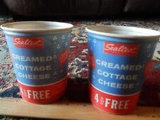 Sealtest Dairy ~ Cream Cottage Cheese (16oz Wax Cartons) NOS LOT (Lily-Nestrite)