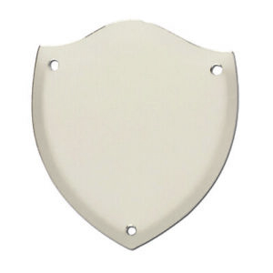 Trophy Side Shield (S026) - Silver / Chrome / (Metal) - With Free Engraving