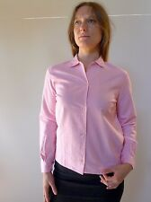 Vintage retro true 50s unused 10 S pink warm cotton check blouse top NOS
