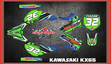 Kawasaki KX65 00-15 KLX110 00-09 SEMI CUSTOM GRAPHICS KIT DETOX