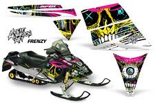 AMR Racing Sled Wrap Ski Doo Rev Snowmobile Graphic Kit 2004-2012 FRENZY YELLOW