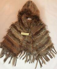 Women Fur Poncho Hoodie Gift Fur Cap