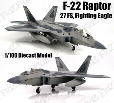 F-22 Raptor 27FS fighting eagle 1/100 diecast stealth Aircraft plane Model