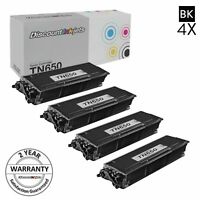 4pk TN650 for Brother New TN-650 High Yield Toner Cartridge MFC-8680DN HL-5340D