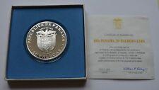 1974 Panama 20 Balboas Proof Sterling Silver Coin COA + BOX