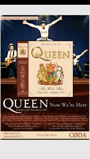 "QUEEN ""NOW WE'RE HERE"" Ltd Clear New Vinyl LP - IN STOCK"