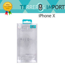 Funda de Gel Transparente Roar Case para iPhone X 1.4mm