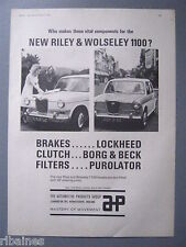 R&L Ex-Mag Advert: Riley And Wolseley 1100 fitted with AP Steering Joint