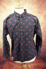 Vintage Gant Salty Dog Imperial Poplin Geometric Paisley Dress Shirt Men's Size