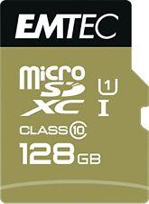 Microsd SDHC Idéal mobile Blackberry ZTE Google Nexus Archos EMTEC 128go Uhs-i 85mb/s