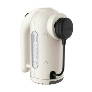 Dualit Hand Mixer 400W With 4 Speed Settings Strong Grip Handle Canvas White