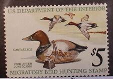 Scott Rw42 - 5 Dollar 1976 Duck Stamp - Mnh - Scv - $15.00