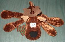 Christmas Rodney Reindeer striped red green scarf LG Stuffed Plush Hallmark