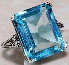 size 6  Fashion jewelry  925 silver Sapphire zircon wedding ring laolin1294-6