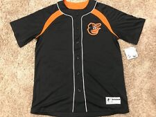 eb8a8c115 NWT Majestic Baltimore Orioles Button Up Jersey Men s Size M MSRP  65