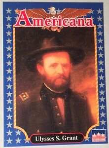 FUN EDUCATIONAL FACTS 1992 Americana Trading Card PRESIDENT ULYSSES S. GRANT #61