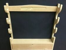 Gun Rack Cabinet with lockable cupboard designed for 4 guns Baize Protection C4