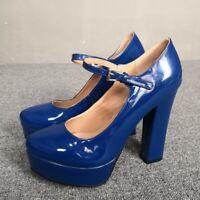 Fashion Women's Ankle Strap High Heels Round Toe Pumps Platform Shoes Sandals