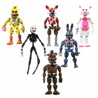 6Pcs/Set Five Nights At Freddy's Action Figures Toys Doll FNAF Set Removable