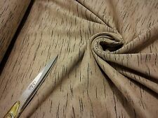 Stretch Jersey Beige Streaks Fine Ribbed Single Knit Dress/Craft Fabric*FREE P&P