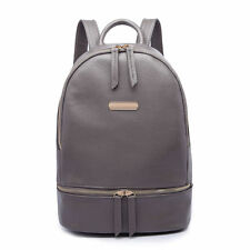 Boys Girls Retro Laptop Travel Work School Bag Gray Backpack Rucksack