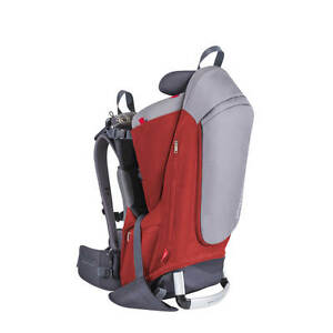 Phil & Teds Escape Backpack Carrier - Red/Charcoal - New! Creased Box!