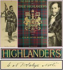 *1881*THE CLUB OF TRUE HIGHLANDERS/HIGHLAND HISTORY/CULTURE/DRESS/BAGPIPE/TARTAN