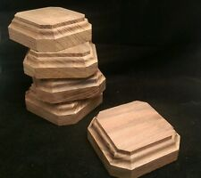 2. 3/4x2. 3/4x1.1/4Hand Made Wooden base for figures/miniatures-Solid walnut