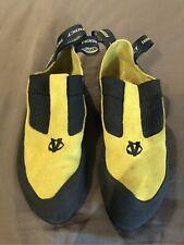 Evolv Addict Rock Climbing Shoes Lemon Yellow Mens 8.5 (41.5)