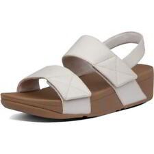 FitFlop Mina Womens Ladies White Walking Sandals Adjustable Straps Size UK 4-8
