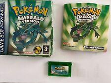 Pokemon Emerald Boxed/Cartridge/Manual - Gameboy Advance Nintendo 100% Geniune