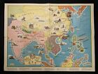 1936 General Mills Premium JACK ARMSTRONG'S CHART GAME Paper Map 27x20.5