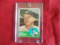 "MICKEY MANTLE-1963 TOPPS #200 RATES A ""1"" CREASES/BLEMISHES"